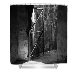 The Weathered Wall Shower Curtain