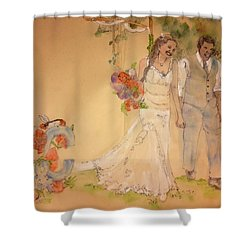 The Wedding Album  Shower Curtain