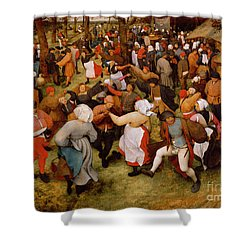 The Wedding Dance Shower Curtain by Pieter the Elder Bruegel