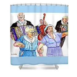 The Wedding - Life On The Stoop Shower Curtain