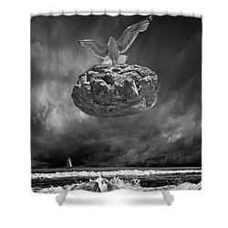 Shower Curtain featuring the photograph The Weight Is Lifted by Randall Nyhof