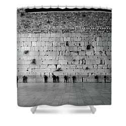 The Western Wall, Jerusalem 2 Shower Curtain