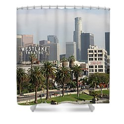 The Westlake Theater Shower Curtain