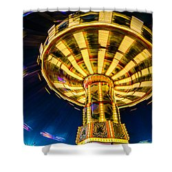 The Wheel Shower Curtain by David Smith
