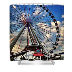 The Wheel Entrance Shower Curtain