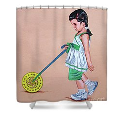 The Wheel - La Rueda Shower Curtain