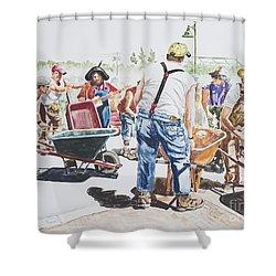 The Wheelsbarrow Band Shower Curtain