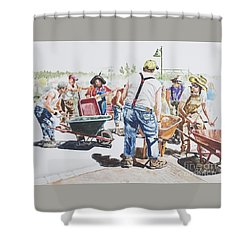 The Wheelsbarrow Band Shower Curtain