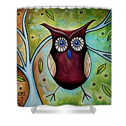 The Whimsical Owl Shower Curtain