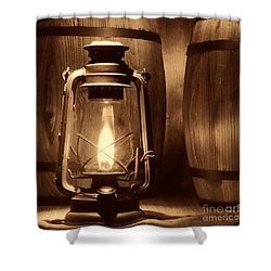 The Whiskey Reserve Shower Curtain by American West Legend By Olivier Le Queinec