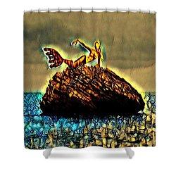 The Whisperer Shower Curtain by Vennie Kocsis