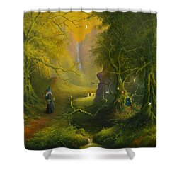 The Whispering Wood Shower Curtain
