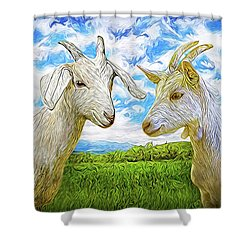 The Whispers Of Goats Shower Curtain