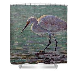 The White Heron Shower Curtain