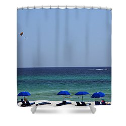 The White Panama City Beach - Before The Oil Spill Shower Curtain by Susanne Van Hulst