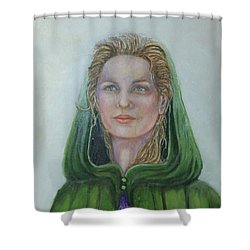 The White Rose Queen Shower Curtain