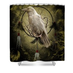The White Raven Shower Curtain