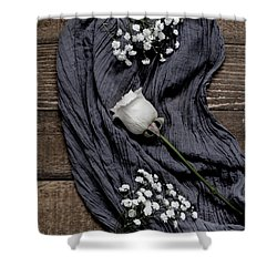 Shower Curtain featuring the photograph The White Rose by Kim Hojnacki