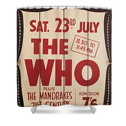 The Who 1966 Tour Poster Shower Curtain