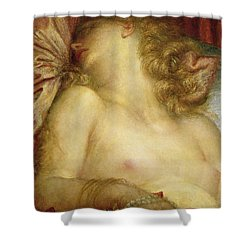 The Wife Of Plutus Shower Curtain by George Frederic Watts