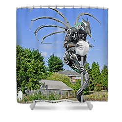 The Wight Dragon Shower Curtain by Rod Johnson