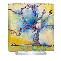 The Wind Riders Shower Curtain by Pat Saunders-White
