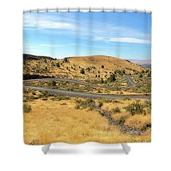 The Winding Road In Central Oregon Shower Curtain