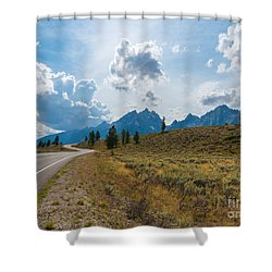 The Winding Road Shower Curtain by Sharon Seaward