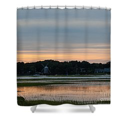 The Windmill On The River Shower Curtain by Michelle Wiarda