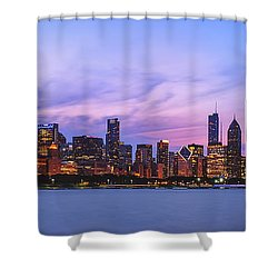 The Windy City Shower Curtain by Scott Norris