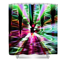 The Windy Road Shower Curtain by Cherie Duran