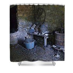 The Wine Cellar Shower Curtain