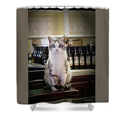 The Winery Cat Shower Curtain