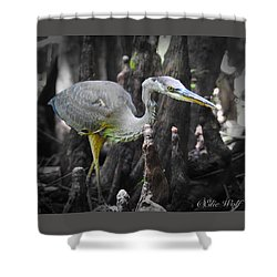 The Winged Stalker Shower Curtain