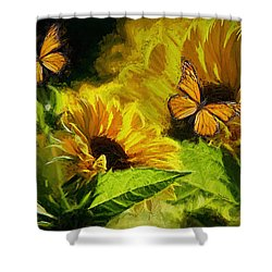 The Wings Of Transformation Shower Curtain by Tina  LeCour