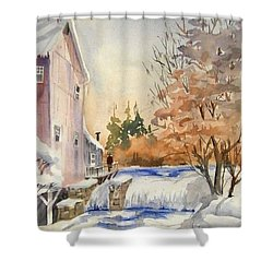 The Winter Mill Shower Curtain