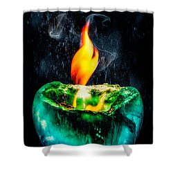 Shower Curtain featuring the photograph The Winter Of Fire And Ice by Rikk Flohr