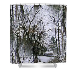 The Winterscene Shower Curtain