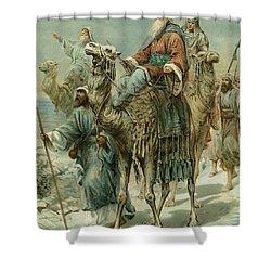 The Wise Men Seeking Jesus Shower Curtain