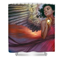 Shower Curtain featuring the painting The Wish Bearer by Ragen Mendenhall