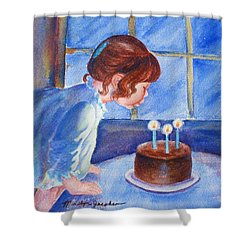 The Wish Shower Curtain by Marilyn Jacobson