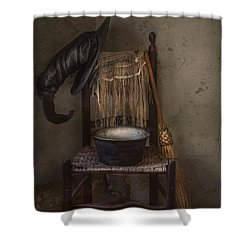Shower Curtain featuring the photograph The Witch Is In by Robin-Lee Vieira