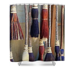 The Witches Brooms Shower Curtain