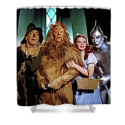 The Wizard Of Oz  Quartet Eric Carpenter Publicity Kodachrome 1939 Shower Curtain by David Lee Guss