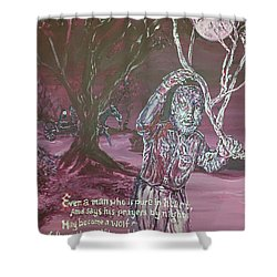 The Wolf Man, 1941 Shower Curtain