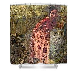The Woman At His Tomb Shower Curtain
