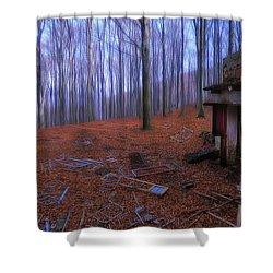 The Wood A La Magritte - Il Bosco A La Magritte Shower Curtain