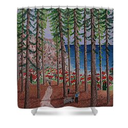 The Wood Collectors Shower Curtain