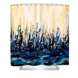 The Woods - Blue No.2 Shower Curtain
