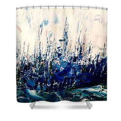 The Woods - Blue No.3 Shower Curtain